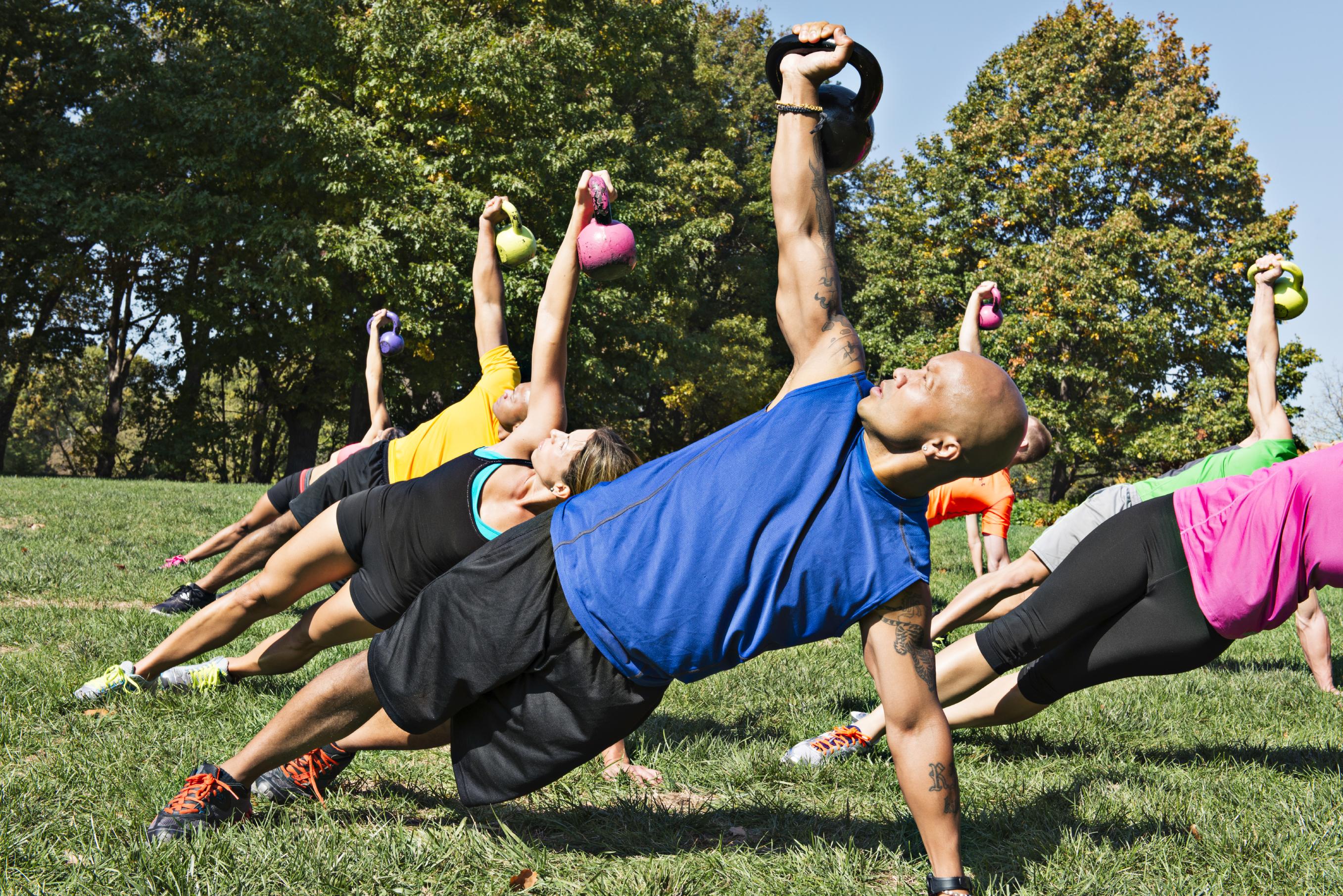 Outdoor Kettlebell Workout