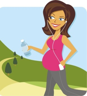 pregnant-mother-exercising-clipart-1