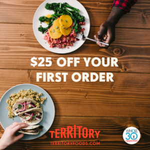 Our friends at Territory are offering $25 off first time orders!