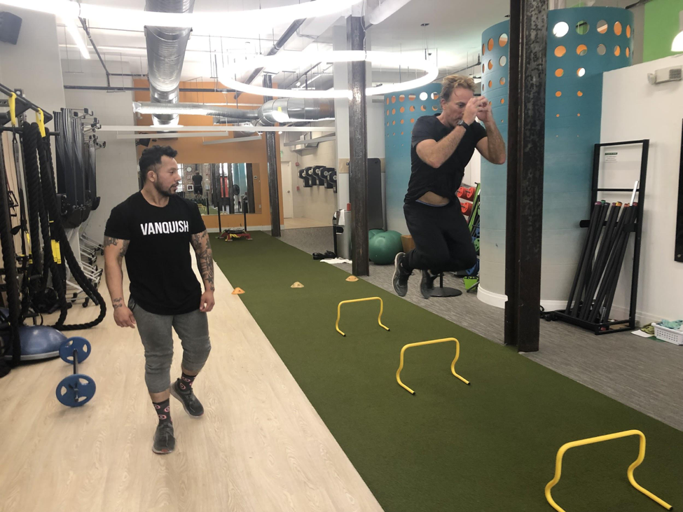 Patrick John working out with Enrique