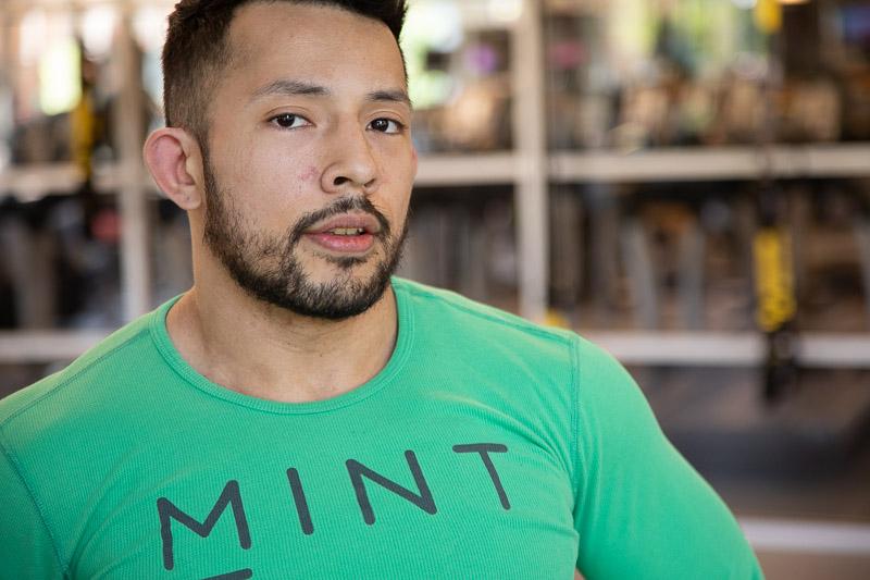 Boxing Instructor Enrique Flores
