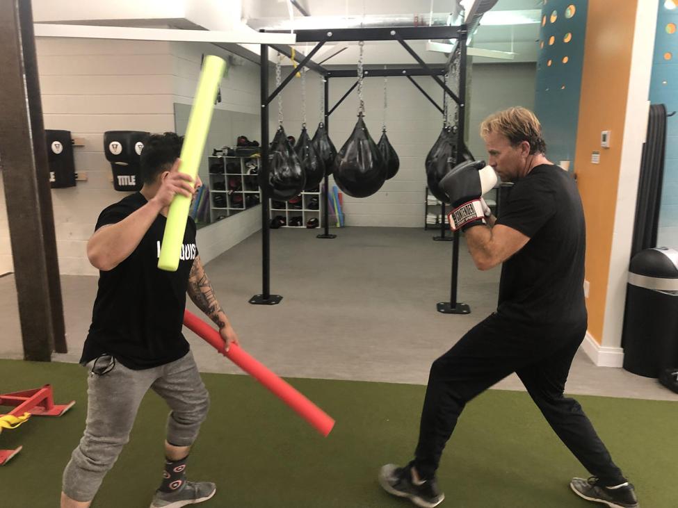 Patrick John Boxing with Enrique