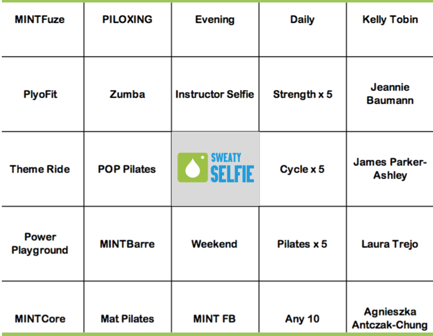 MINT Bingo Card for Members